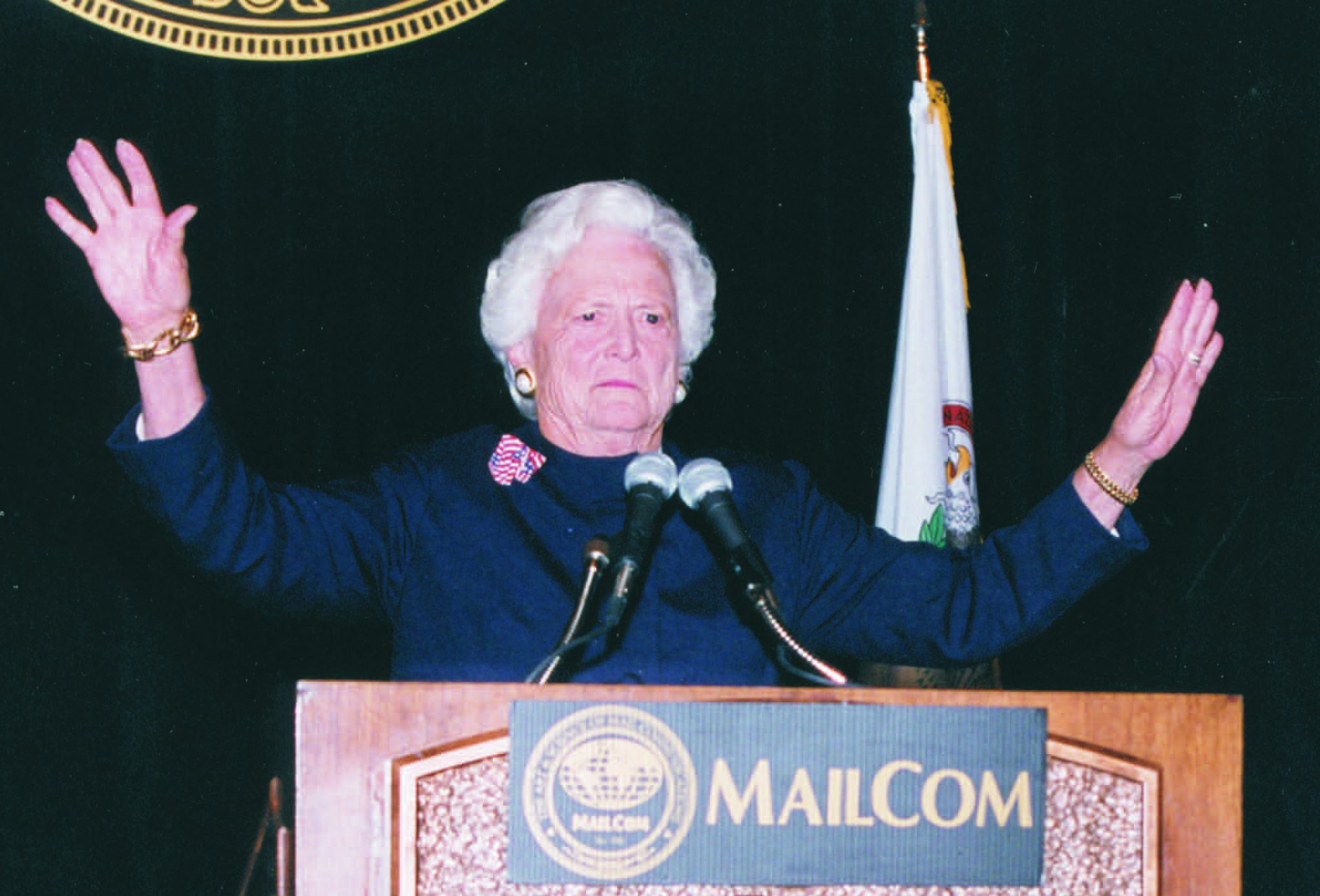 Barbara Bush at MCOM - 2