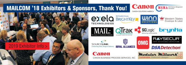 mailcom 2019 exhibitors and sponsors