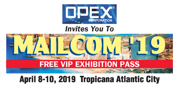OPEX MAILCOM VIP EXHIBIT PASS